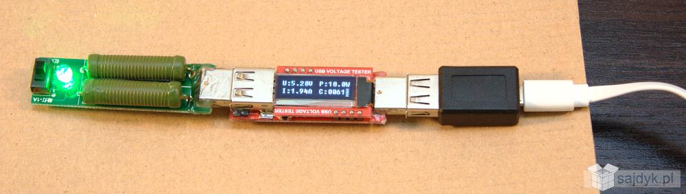 Test kabla od power banku Xiaomi 10400