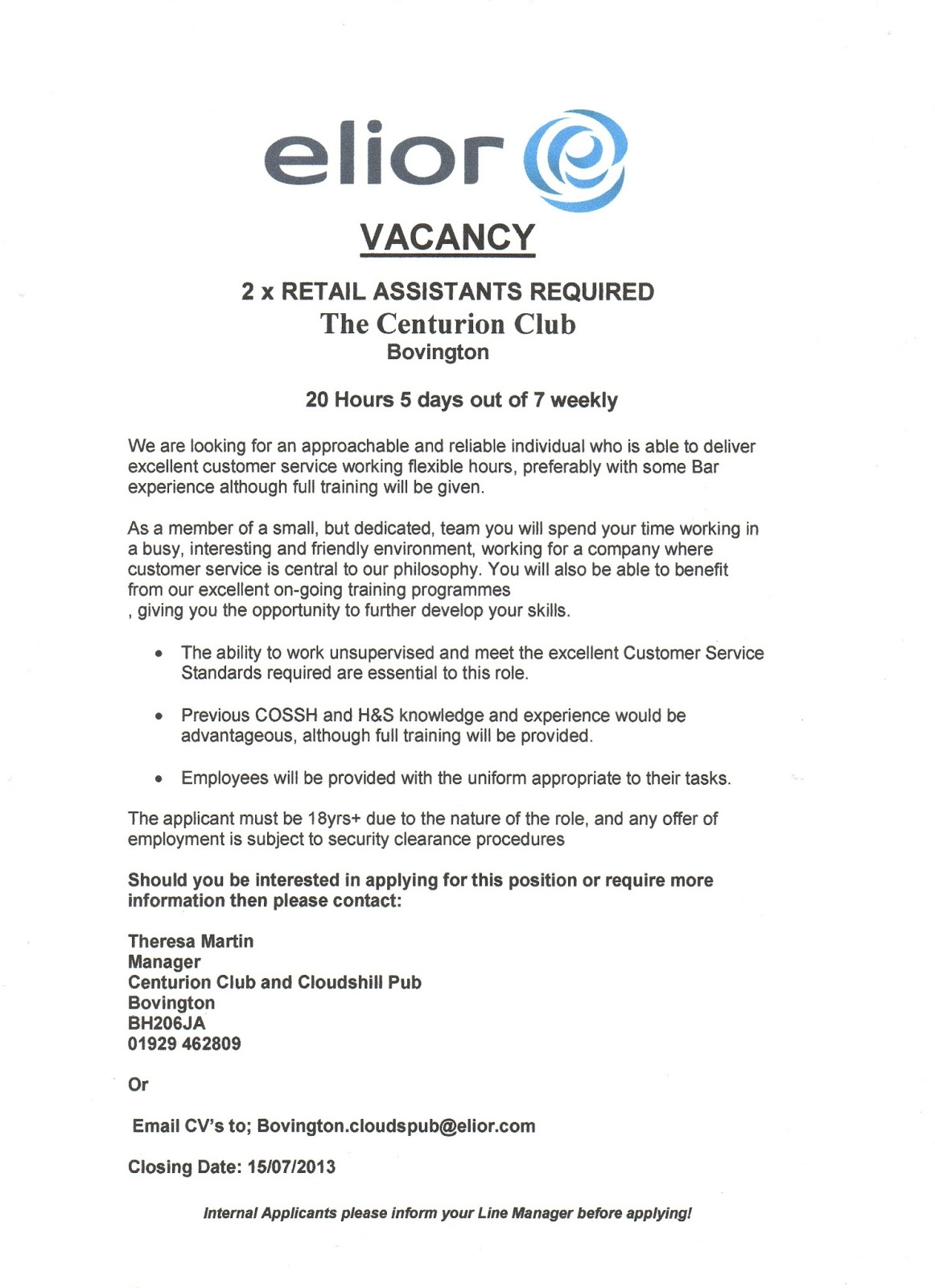 How to write a job vacancy notice
