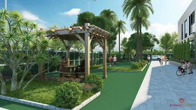 Khuôn viên xanh tại dự án Riverside Garden