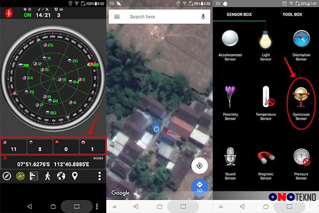Navigasi GPS satelite lengkap dan memiliki sensor gyro