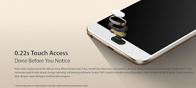 touch access Oppo F1s