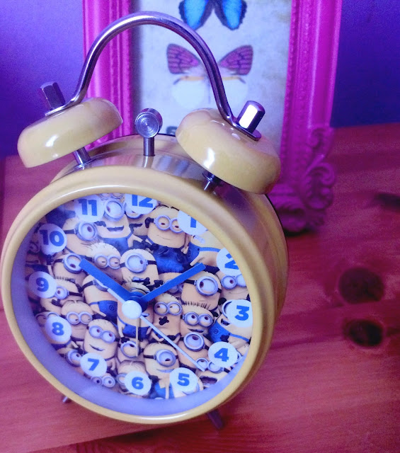 small yellow minion alarm clock