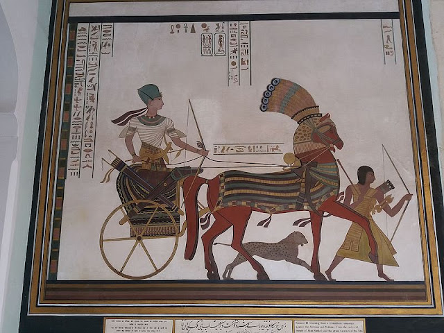 Painting depicting Ancient styled Egypt Chariot