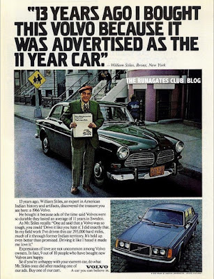 "Classic VOLVO advertising.  ""13 years ago I bought this VOLVO because"""