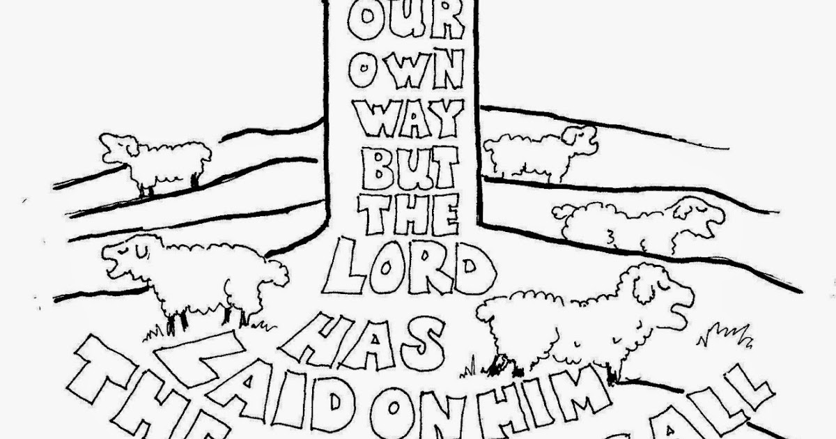 Coloring Pages for Kids by Mr. Adron: All We Like Sheep