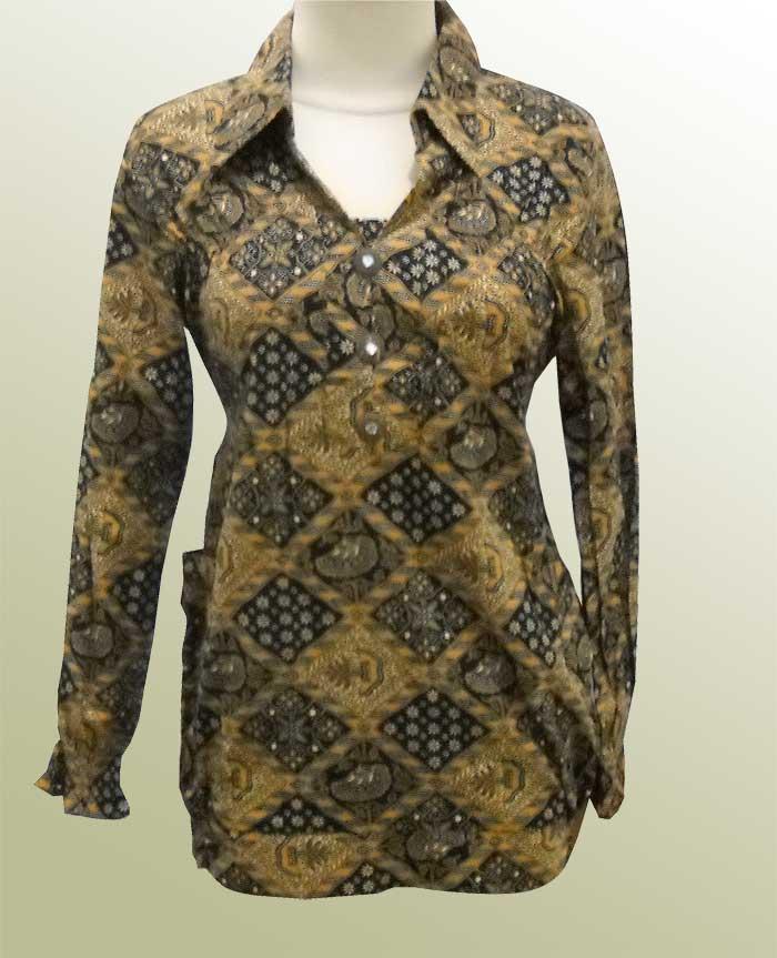Contoh Gambar Baju Batik Modern: Model Baju Batik Wanita - Desain Terbaru Modern