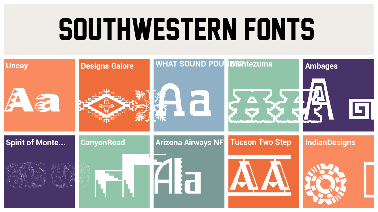 margaret shepherd calligraphy blog what makes it southwestern just a few of the many typefaces available that evoke the southwest source http font downloadatoz com free 13597 southwestern fonts html