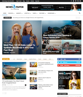 Download gratis template Newspaper WordPress v.6.5.0