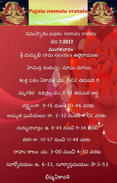Today's panchangam in Telugu,Pujalu nomulu vratalu,rasi phalau in telugu ,rasi phalau in english