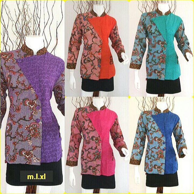 Model Baju Batik kantor untuk Muslimah