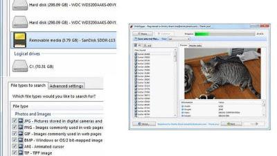 Reparasi MicroSD dengan Diskdigger
