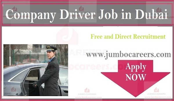 Driver jobs in Dubai for Indians, Recent Dubai job with salary and benefits,