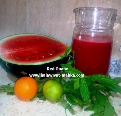 مشروب البطيخ بالنعناع