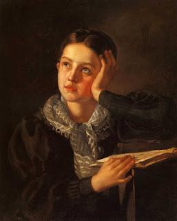 Тыранов Алексей Васильевич (1808-1859)  «Девушка, опирающаяся на руку»