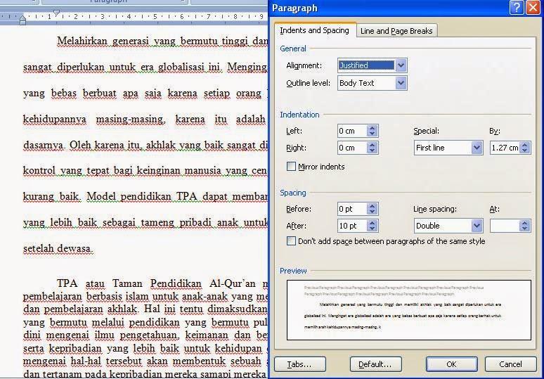 Cara Mengatur Line Spacing / Spasi Baris Paragraf Microsoft Word