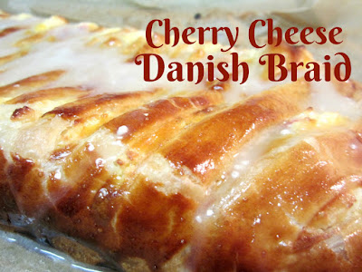 Cherry Cheese Danish Braid, shared by Reviews, Chews & How-tos at The Chicken Chicken Chick's Clever Chicks Blog Hop