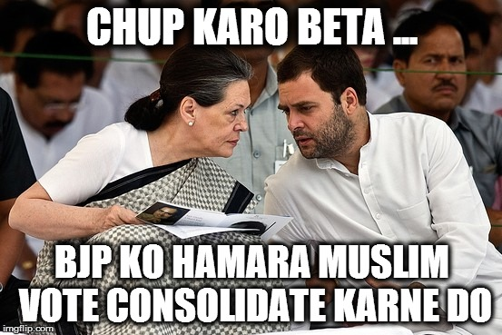 Sonia and Rahul - BJP is consolidating our muslim vote bank