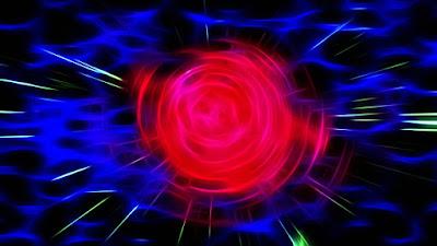 heartbeat, red, blue, fractal, universe, focus, contrast, colorful