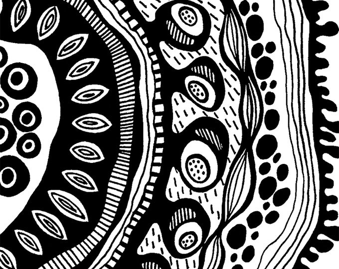"""Black & White Printable Art Print """"Unknown Organic Object"""" - Abstract - Graphics"""