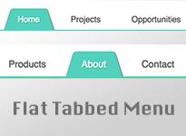New Flat Tabbed Menu For Blogger / Blogspot