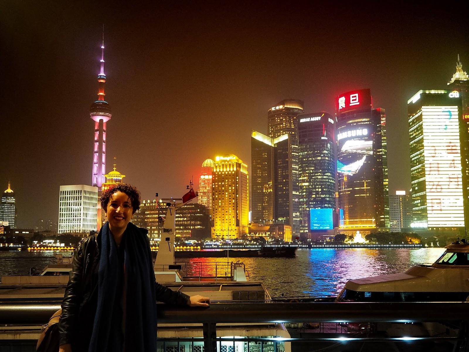 shanghai the bund skyline pudong