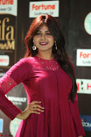 Monal Gajjar in Maroon Gown Stunning Cute Beauty at IIFA Utsavam Awards 2017 066.JPG