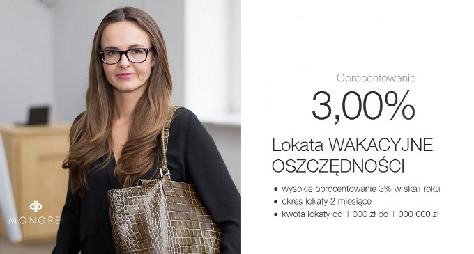 Lokata Wakacyjne Oszczednosci 3 procent w Idea Bank