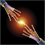 Un conductor es cualquier elemento que nos permita conducir energia electrica a traves de el, lo mas seguro es utilizar un cable apropiadamente aislado