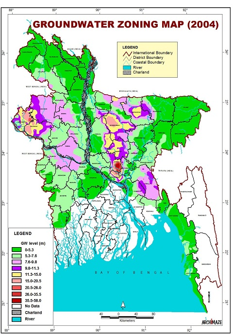 Groundwater Zoning Map Bangladesh (2004)
