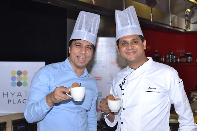 Ali Harris Shere, VP, Marketing, Britannia and Gaurav Paul, Executive Chef, Hyatt Place-min