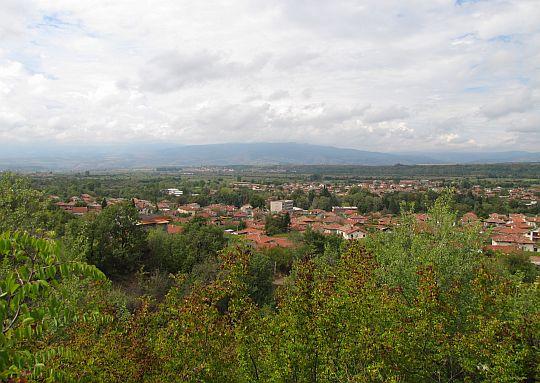 Panorama wsi Stob (bułg. Стоб).