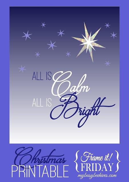Silent Night Christmas Printable