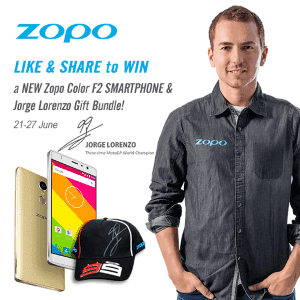 Win Free Mobile Phone from Zopo