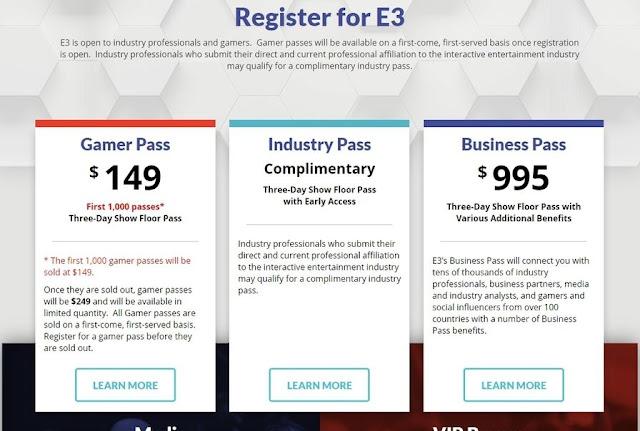 E3 2018 precios