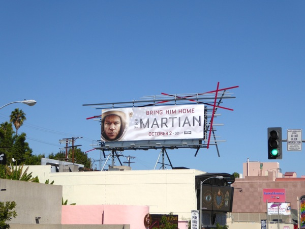 The Martian film billboard