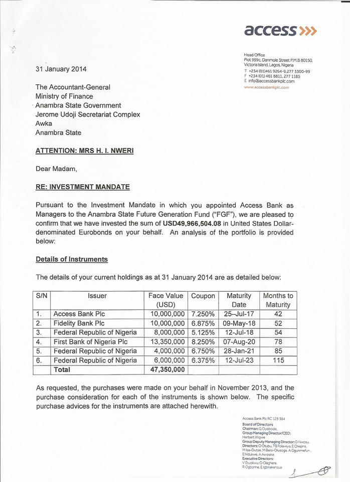 Gov Obiano Denies Handover Notes Received from His Predecessor