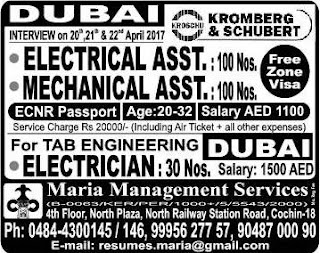 Kromberg & Schubert Company jobs in Dubai