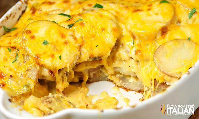 Cheesy Potato Au Gratin