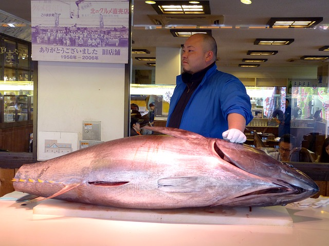 Super Large Freshly Caught Tuna Fish