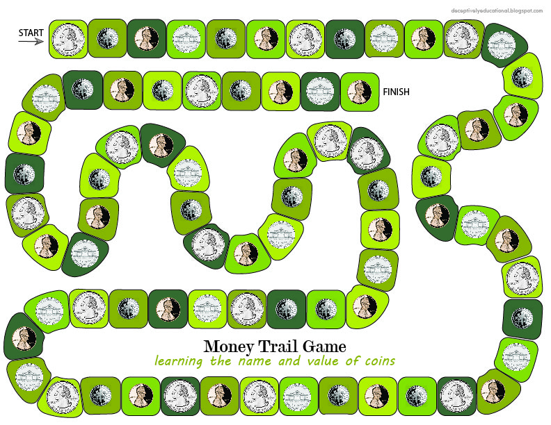 picture regarding Printable Money Games named Relentlessly Enjoyment, Deceptively Enlightening: Revenue Path Board