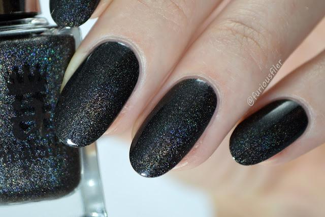 macro holographic nail polish swatch king cophetua