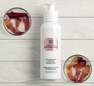 Pure Resurfacing Liquid Peel from The Body Shop's Drops of Light skin care collection