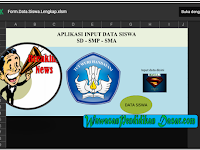 Aplikasi Input Data  Individu Siswa format Excel untuk SD SMP SMA