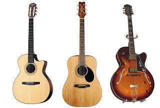 основные виды гитар