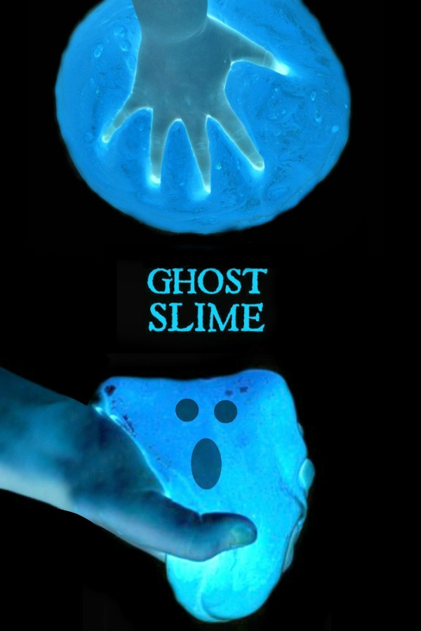 "GOOEY GHOST SLIME- so fun it will give you ""chills!"" (it's cold- so cool!))  #slimerecipe #slime #ghostslime #ghostslimerecipe #halloweenslime #slimerecipeeasy #howtomakeslime #slimeforkids"