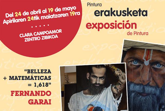 Cartel de la exposición de Fernando Garai en Barakaldo