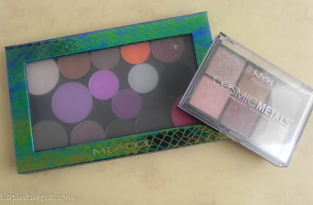 paleta customizada y cosmic metals de nyx