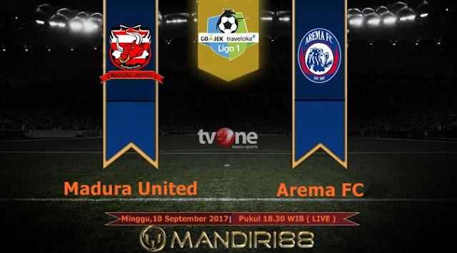 Derby Jawa Timur tersaji di Stadion Gelora Ratu Pamelingan Berita Terhangat Prediksi Bola : Madura United Vs Arema FC , Minggu 10 September 2017 Pukul 18.30 WIB @ TVONE