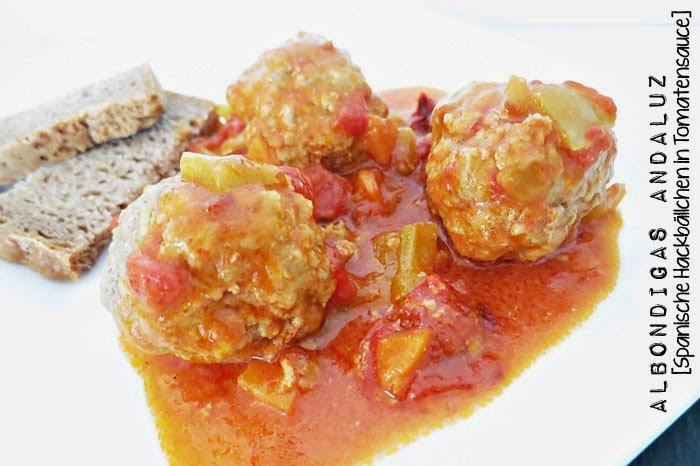 Albondigas Andaluz [Spanische Hackfleischbällchen in Tomatensauce]
