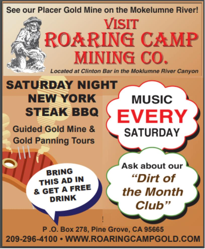Roaring Camp Sat Night BBQ & Live Music